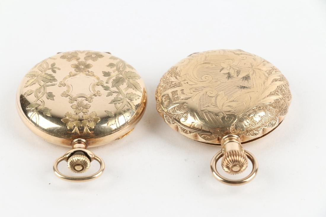 Two (2) 6S Ladies Waltham Gold Filled Hunter Pocket - 2