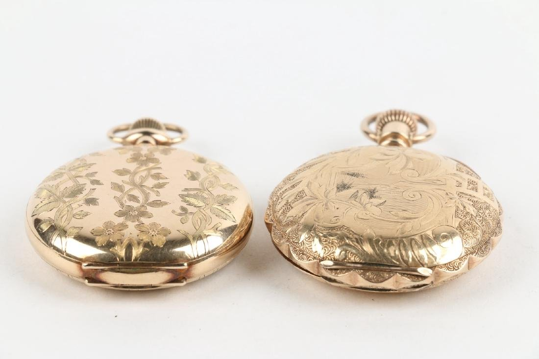 Two (2) 6S Ladies Waltham Gold Filled Hunter Pocket - 3