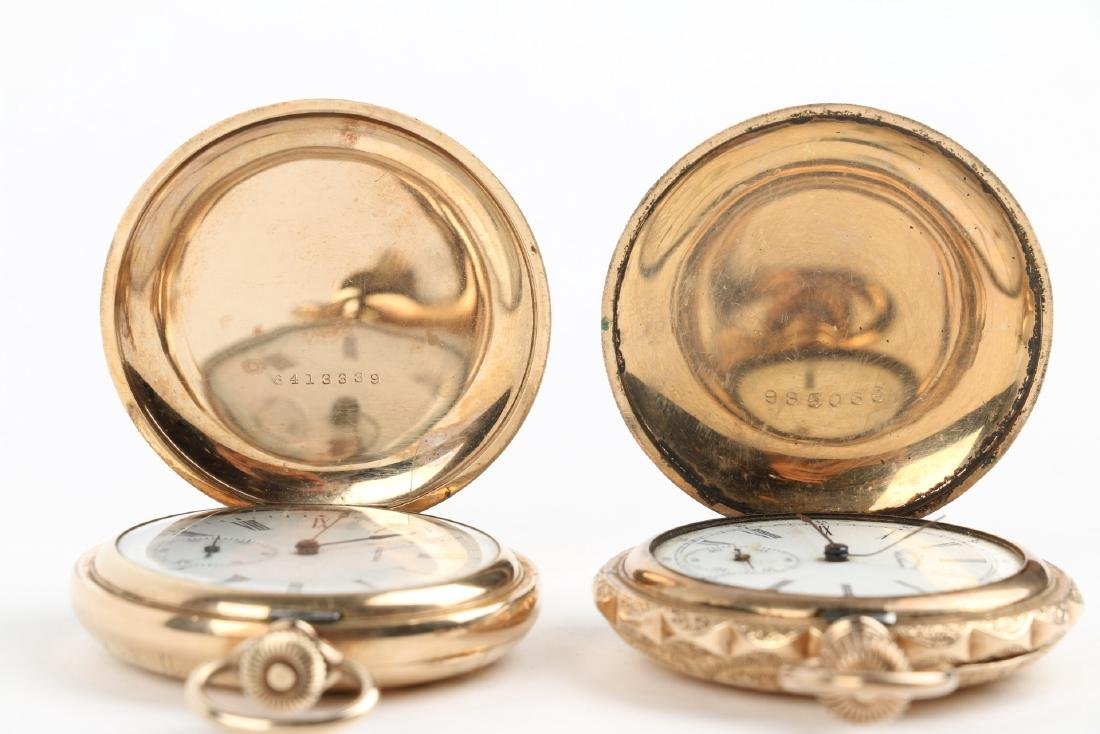 Two (2) 6S Ladies Waltham Gold Filled Hunter Pocket - 6