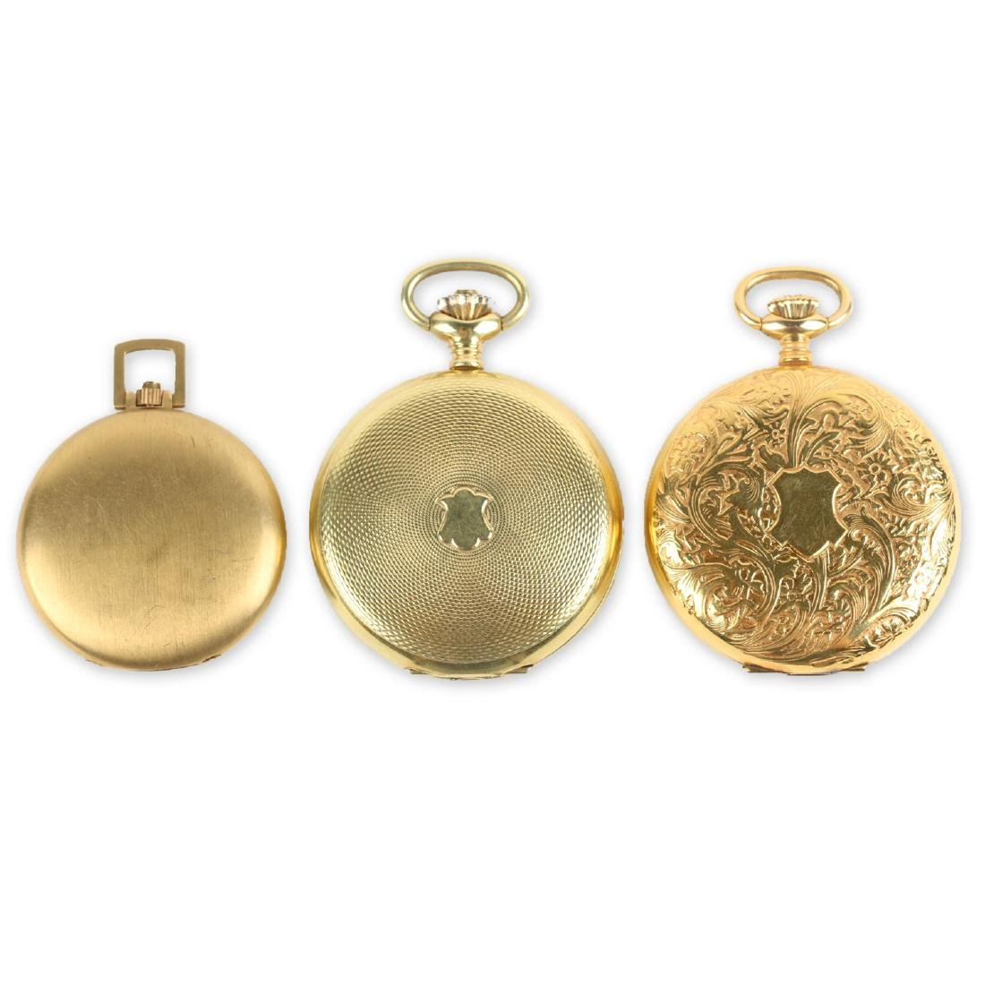 Three (3) Contemporary Hunting Case Pocket Watches