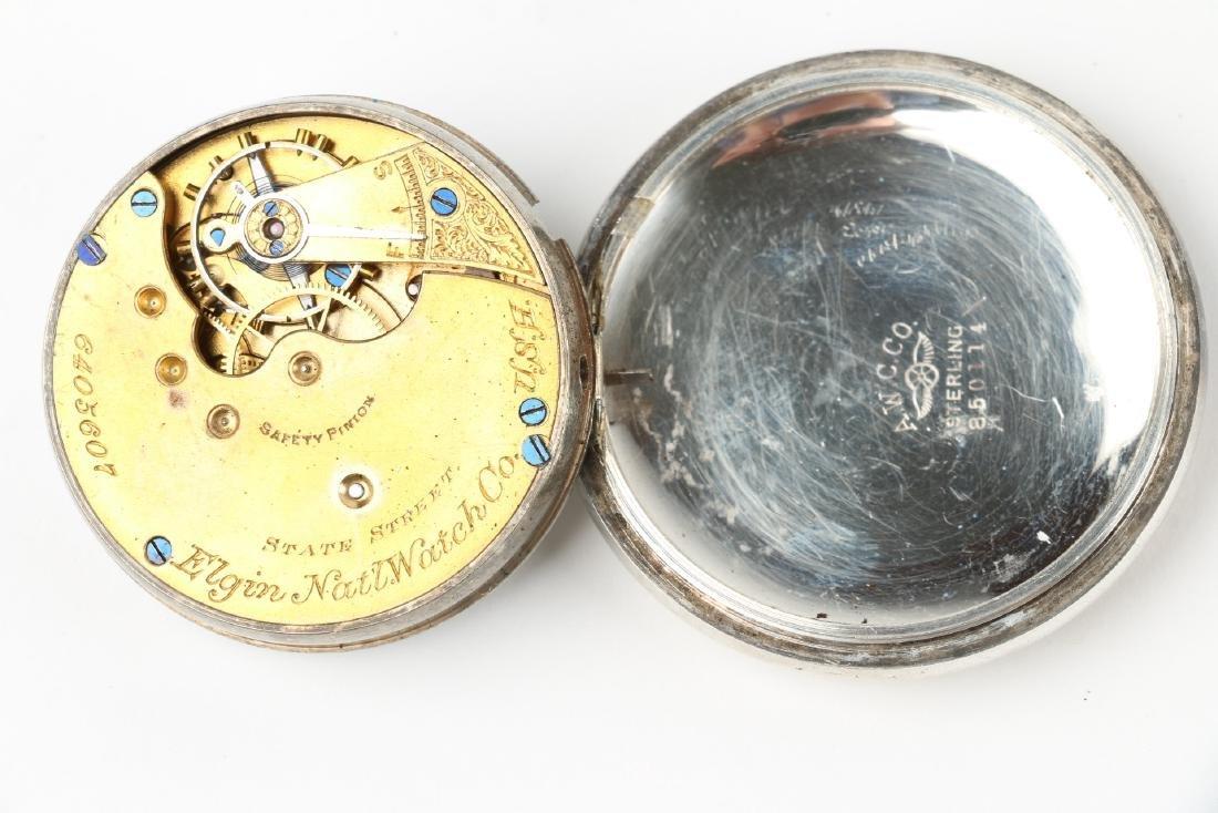 Three (3) 16S & 10S Elgin Pocket Watches - 6