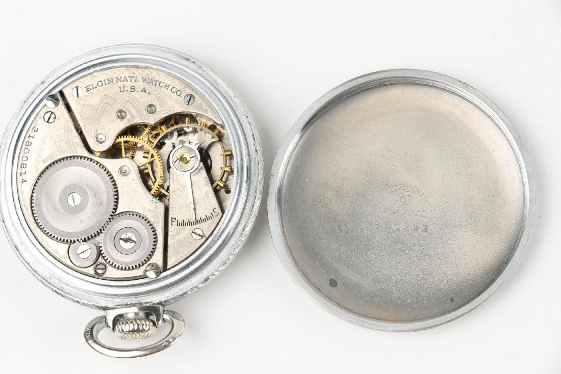 Three (3) 16S & 10S Elgin Pocket Watches - 7