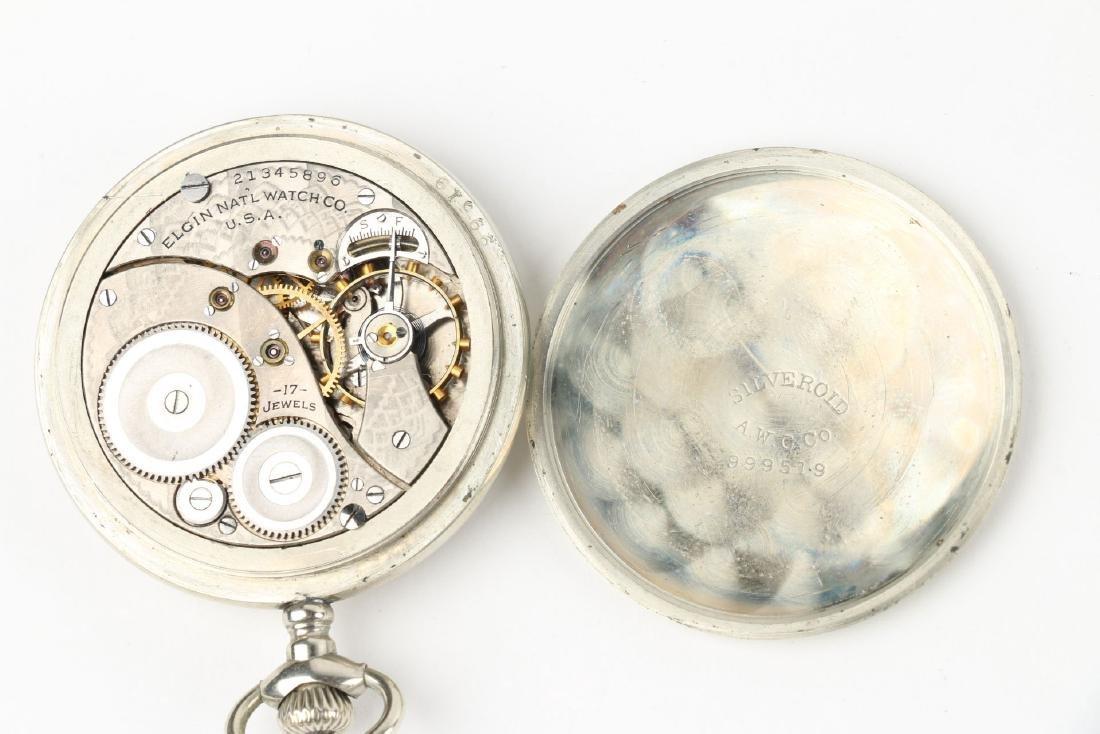 Three (3) 16S & 10S Elgin Pocket Watches - 8