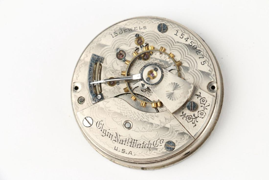 Three (3) 18S Elgin Pocket Watch Movement Assemblies - 3