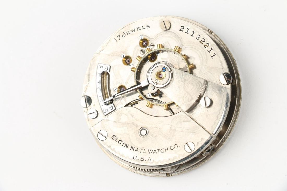 Three (3) 18S Elgin Pocket Watch Movement Assemblies - 5