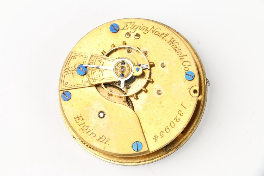 Three (3) 18S Elgin Pocket Watch Movement Assemblies - 7