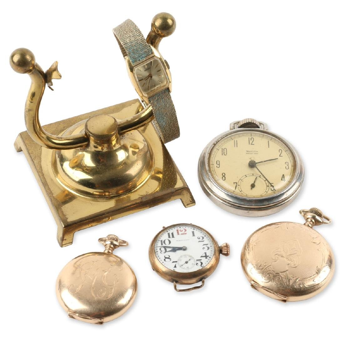 Assorted Lot of Six (6)Watches Incl. Brass Pocket Watch
