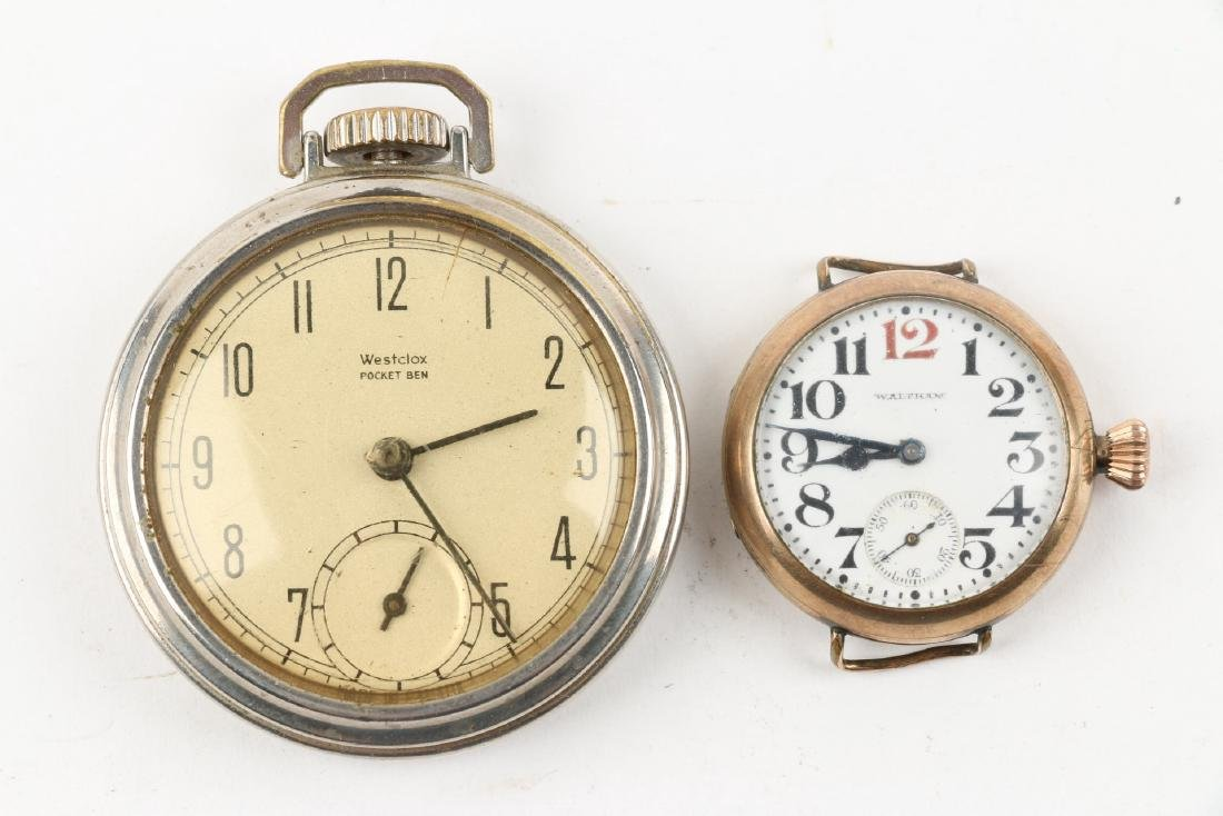 Assorted Lot of Six (6)Watches Incl. Brass Pocket Watch - 5