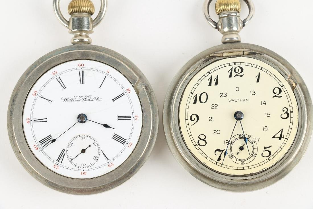 Two (2) 18S 1883 Model Waltham Pocket Watches - 5