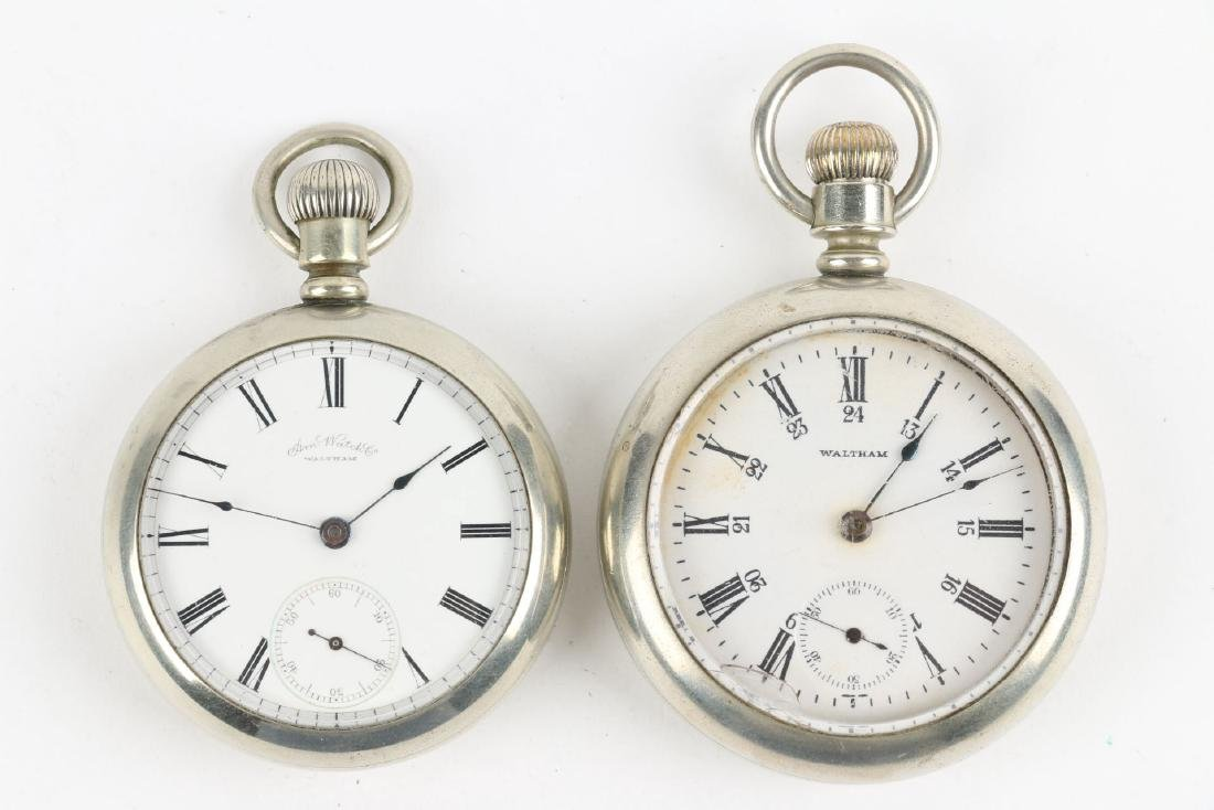 Two (2) Nickel 18S 1883 Model Waltham Pocket Watches - 4