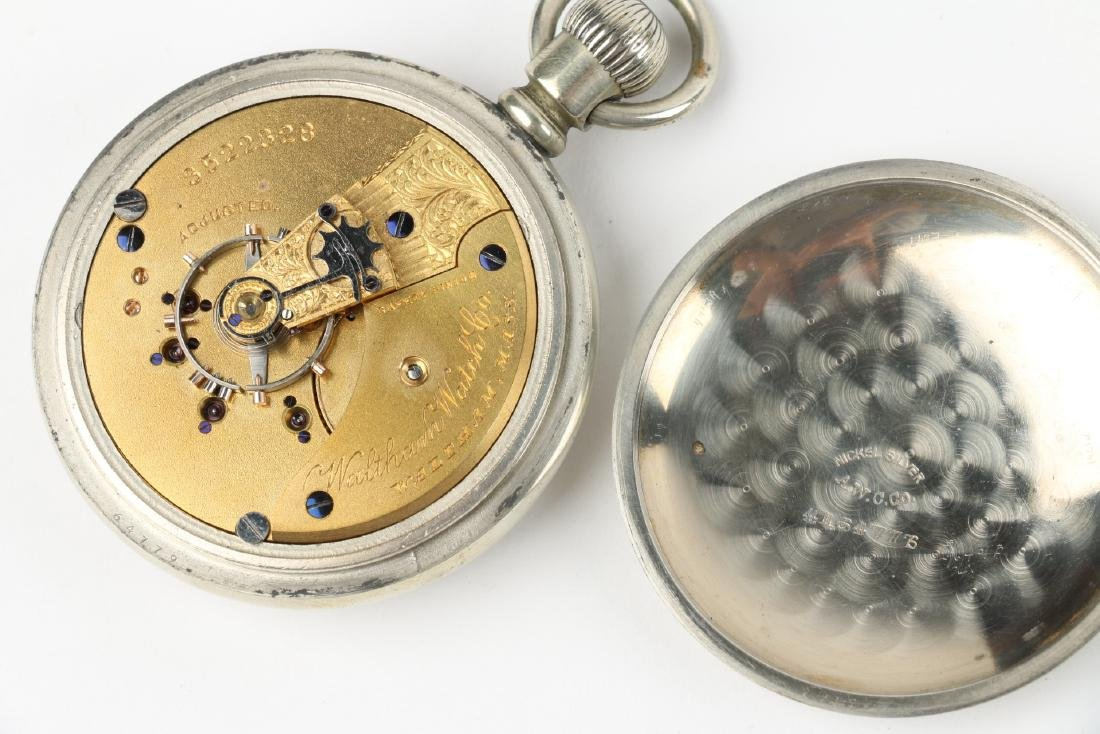Two (2) Nickel 18S 1883 Model Waltham Pocket Watches - 6