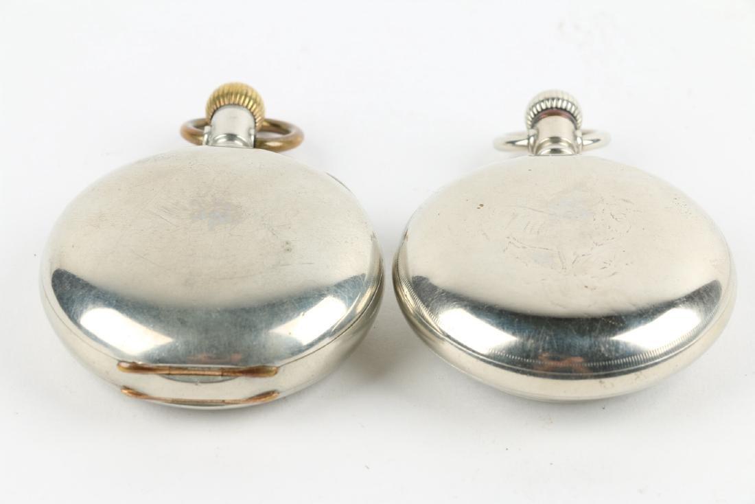 Two (2) 18S Waltham 1883 Model Nickel Silver Pocket - 2