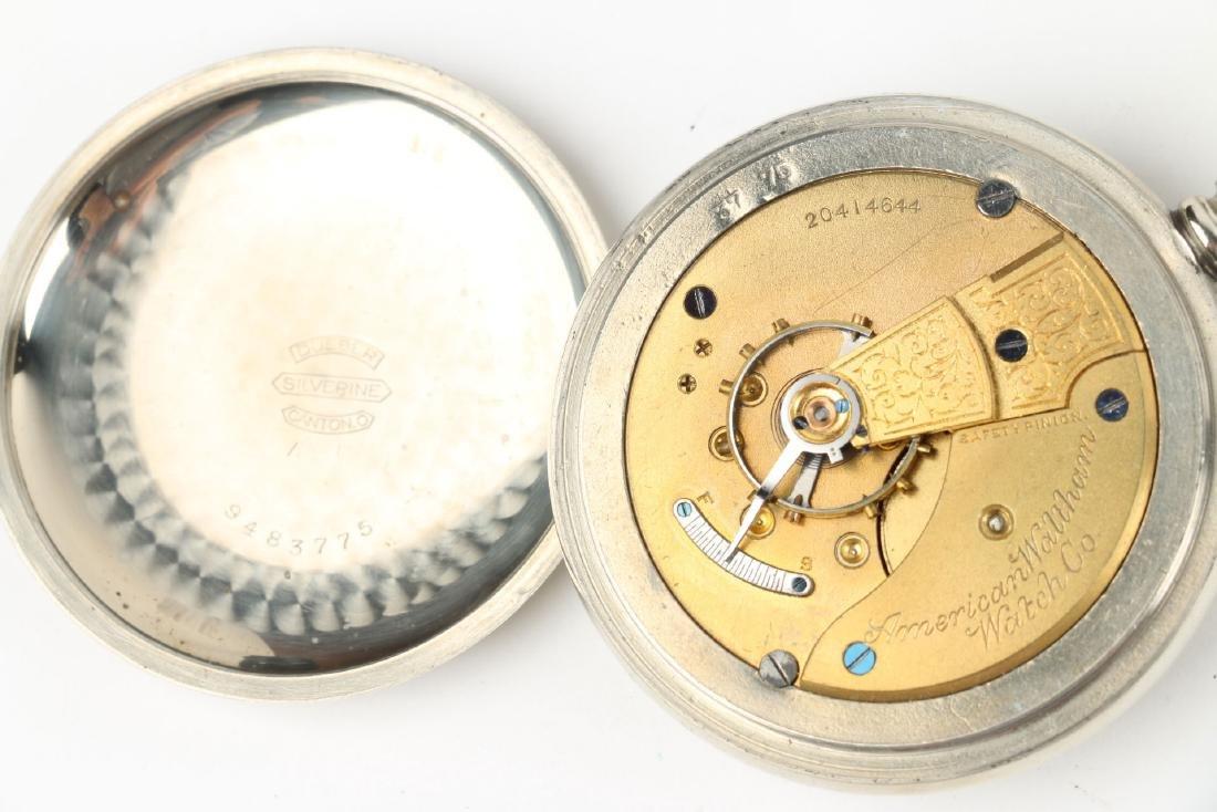 Two (2) 18S Waltham 1883 Model Nickel Silver Pocket - 6