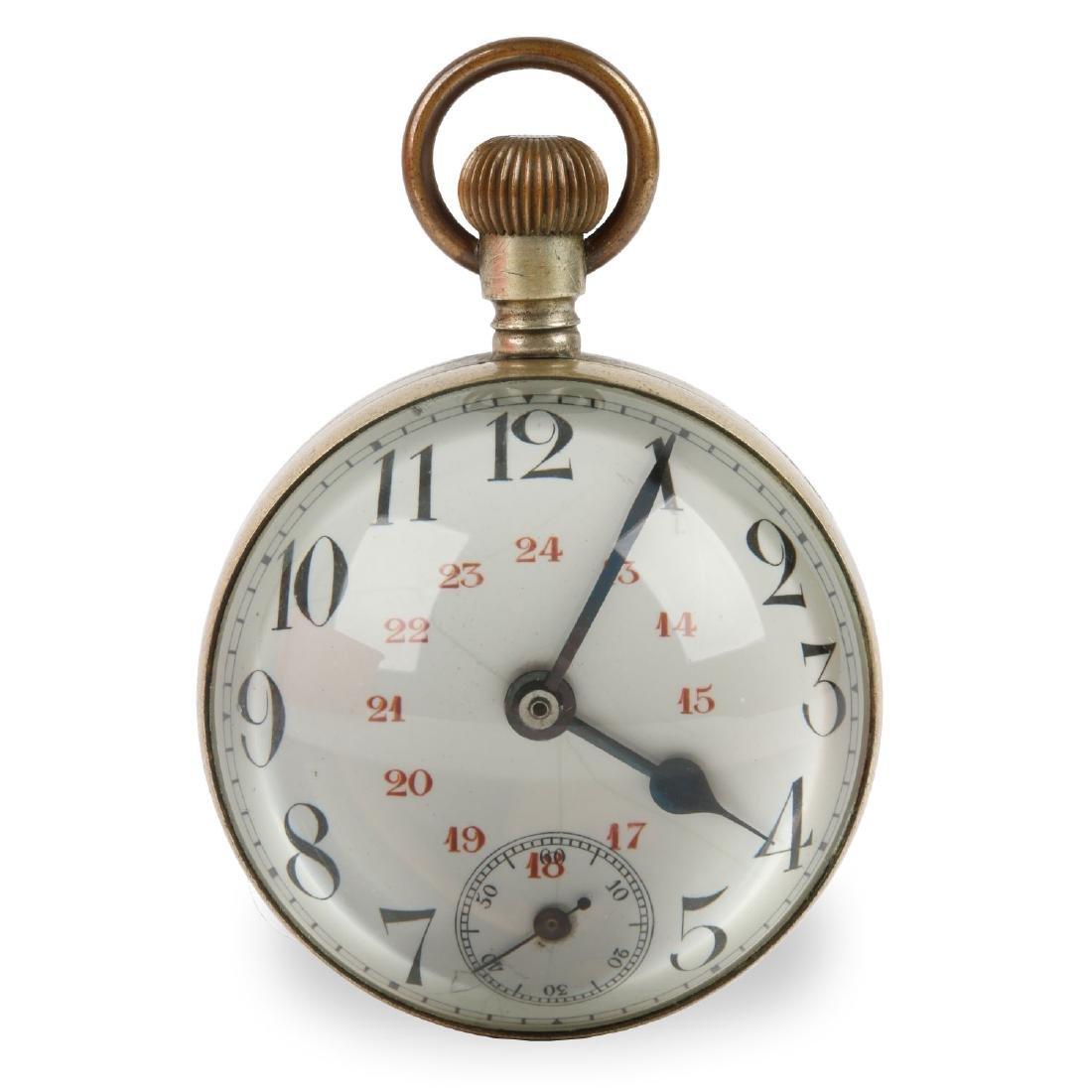Glass Ball Paperweight Swiss Novelty Desk Clock