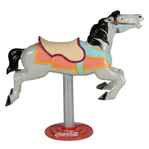 Carousel Horse on Cast Coca-Cola Base