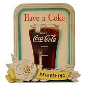 1949 Coca-Cola Diecut Cardboard Display