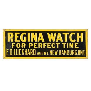 E.D. Luckhard Regina Watch Agent Sign