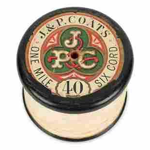 J P Coats Wood Bobbin Advertising Premium