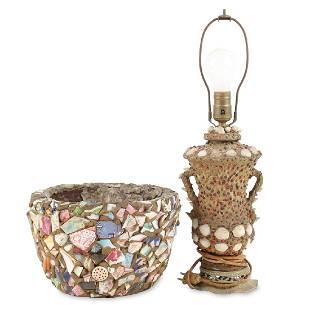 Memoryware Redware Bowl Lamp