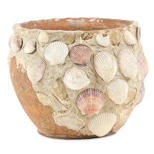 Later Decorated Ontario Redware Flowerpot