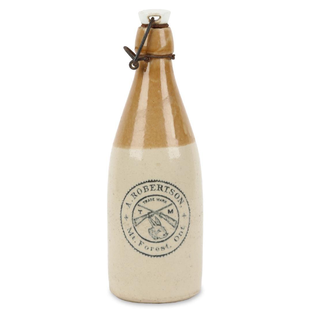 A. Robertson Ginger Beer Bottle, Mt. Forest