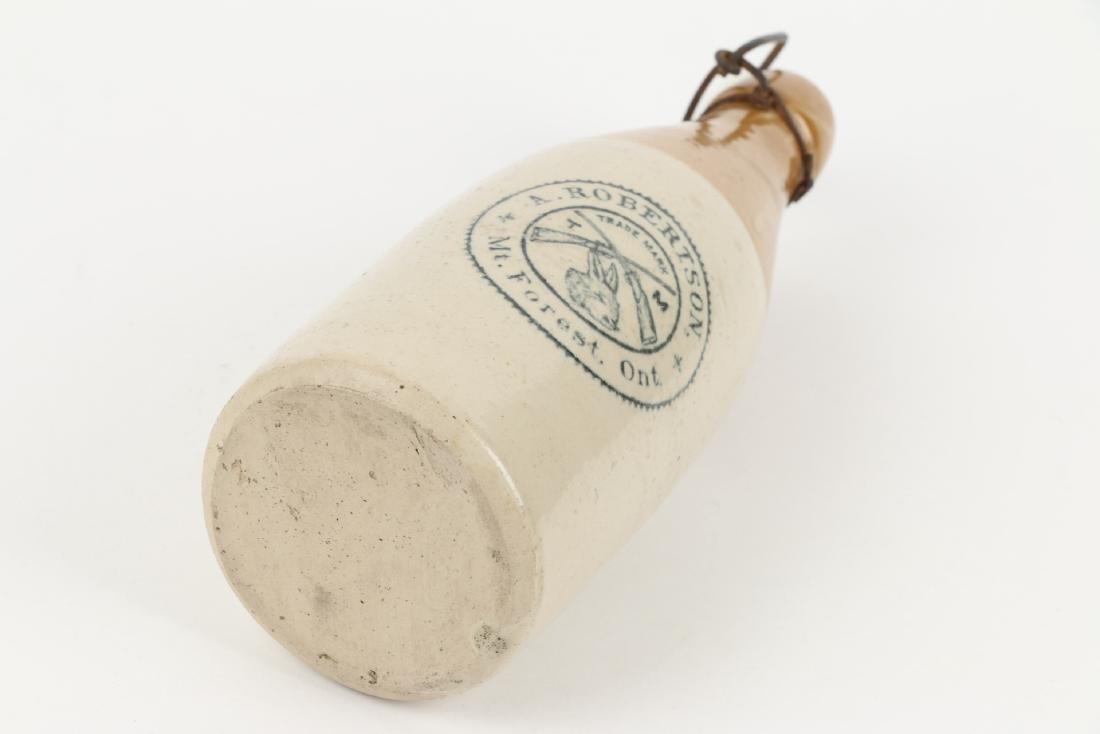 A. Robertson Ginger Beer Bottle, Mt. Forest - 9