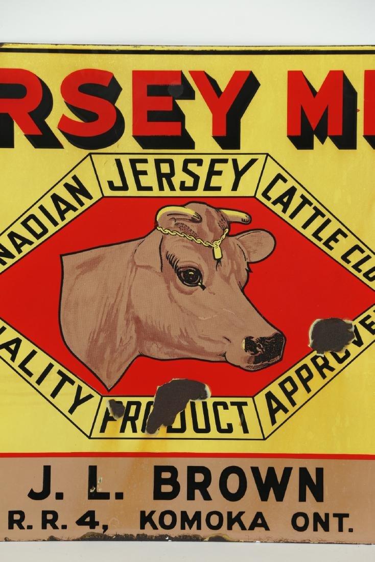 Jersey Milk Cattle Porcelain Sign Komoka - 7