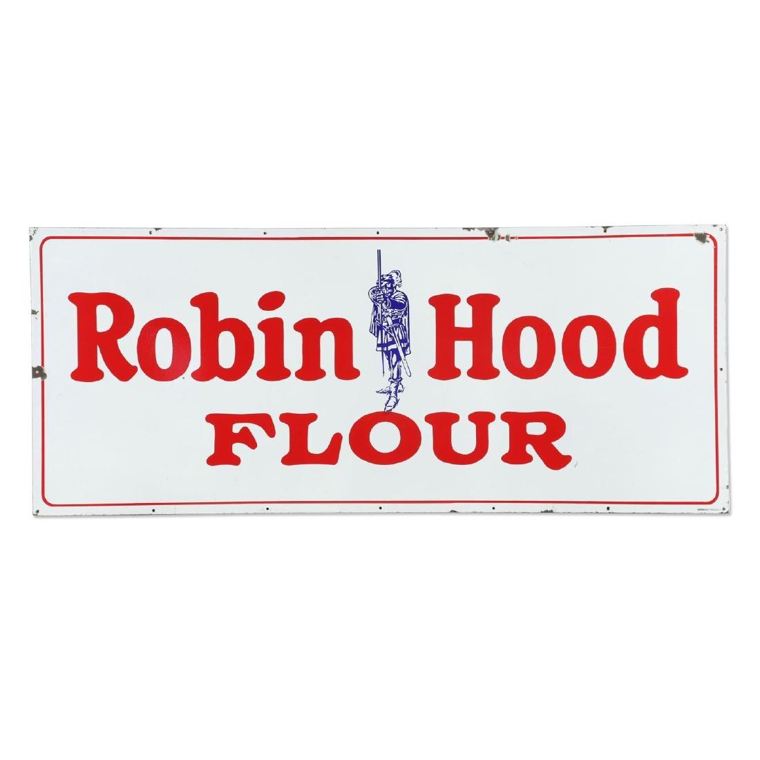 Large Porcelain Robin Hood Flour Sign