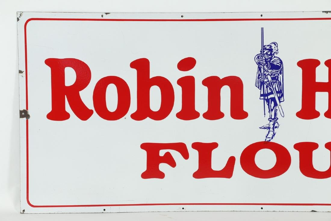 Large Porcelain Robin Hood Flour Sign - 2