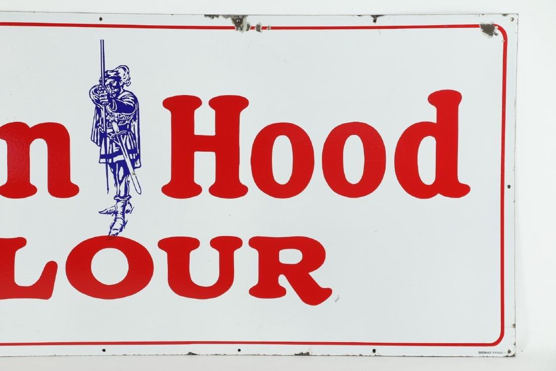 Large Porcelain Robin Hood Flour Sign - 3