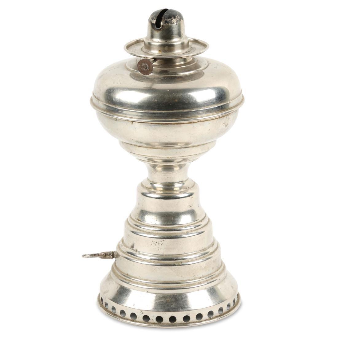 Scarce Mechanical Wanzer Oil Lamp