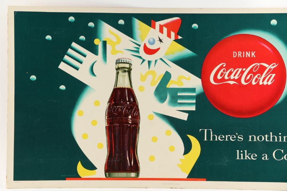 Framed Cardboard Coca-Cola Sign - 2
