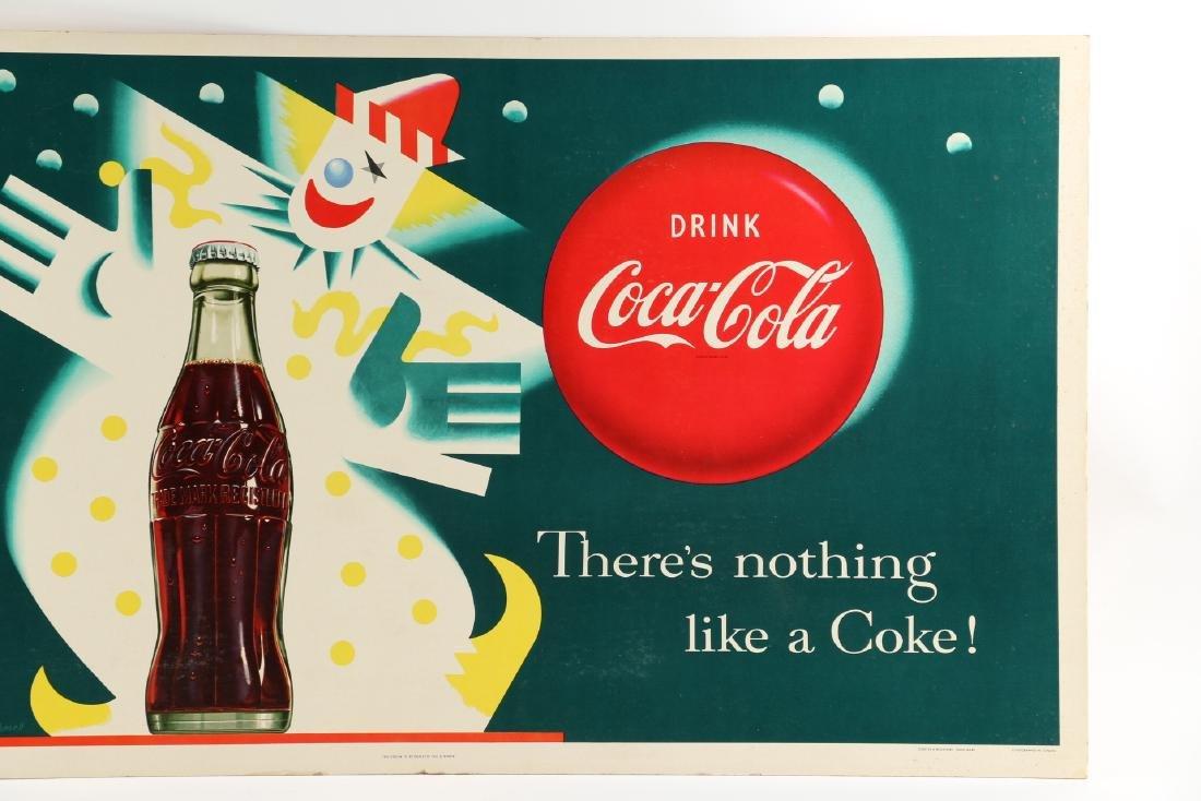 Framed Cardboard Coca-Cola Sign - 3