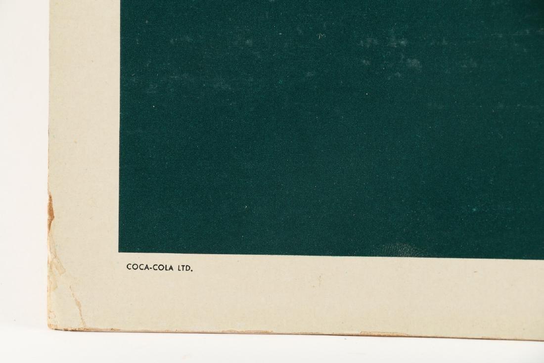 Framed Cardboard Coca-Cola Sign - 6