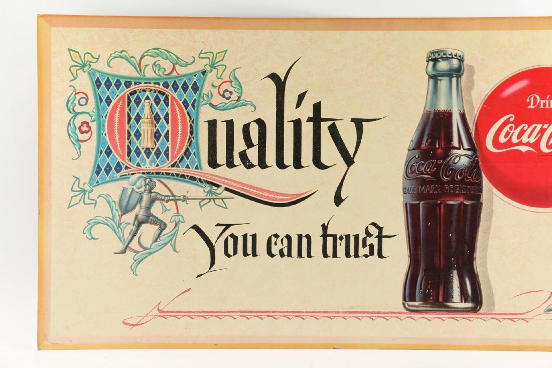 Framed Cardboard Coca-Cola Sign - 8