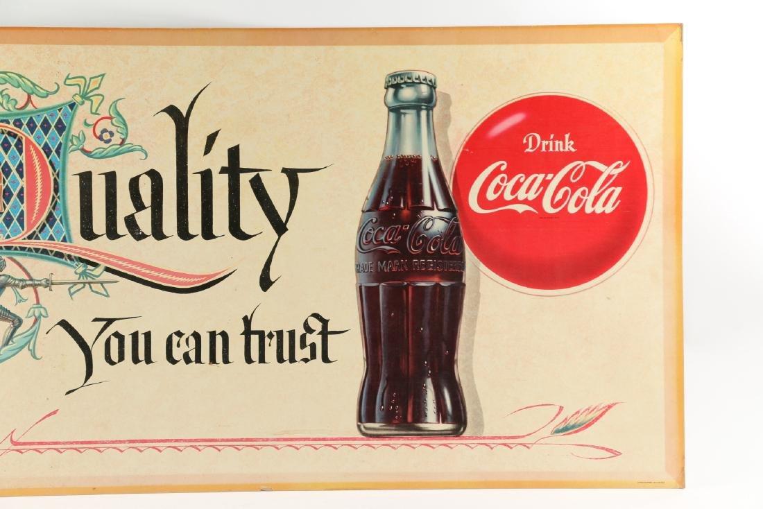 Framed Cardboard Coca-Cola Sign - 9