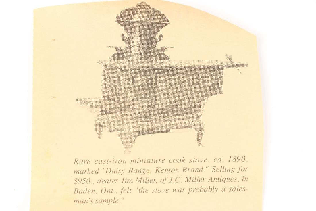 Working Miniature Cast Iron Stove - 5