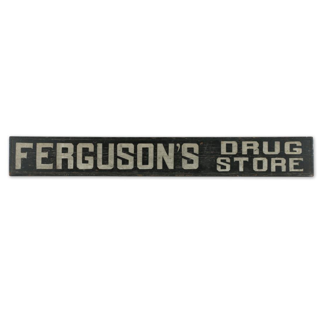 Ferguson's Drug Store Trade Sign