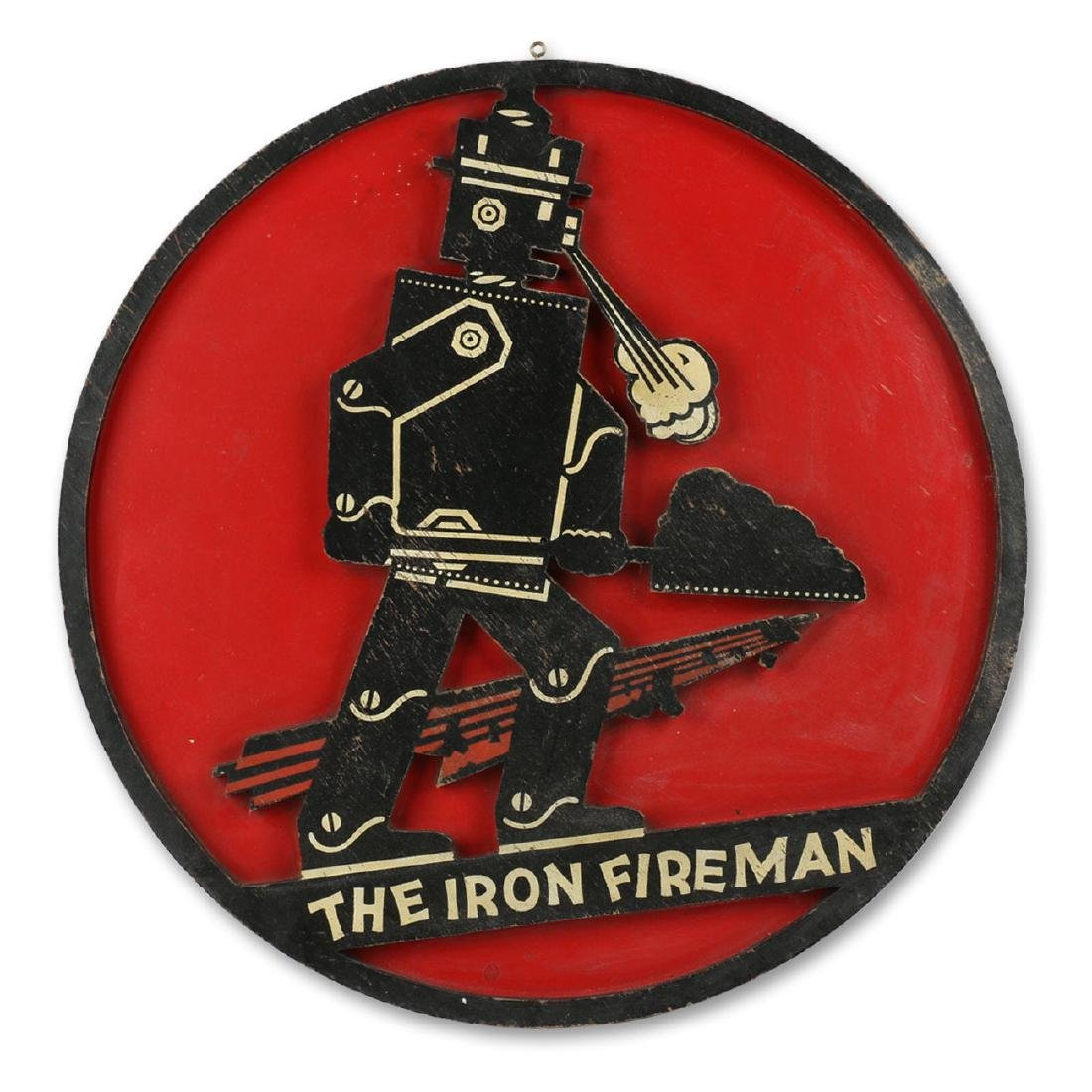 Iron Fireman Coal Furnace Sign