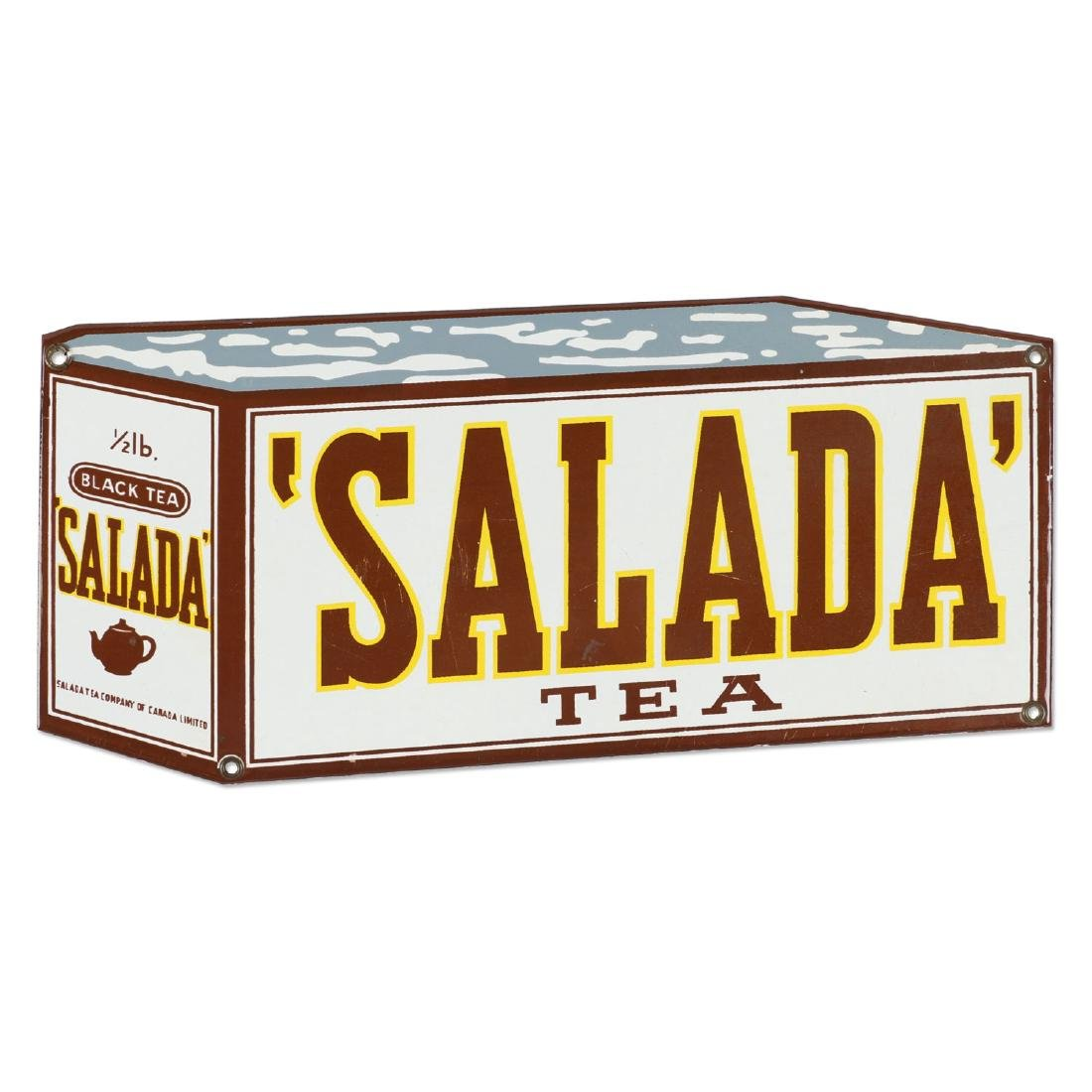 "Porcelain Salada Tea ""Box"" Sign"
