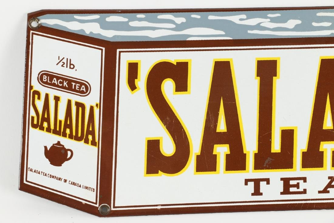 "Porcelain Salada Tea ""Box"" Sign - 2"