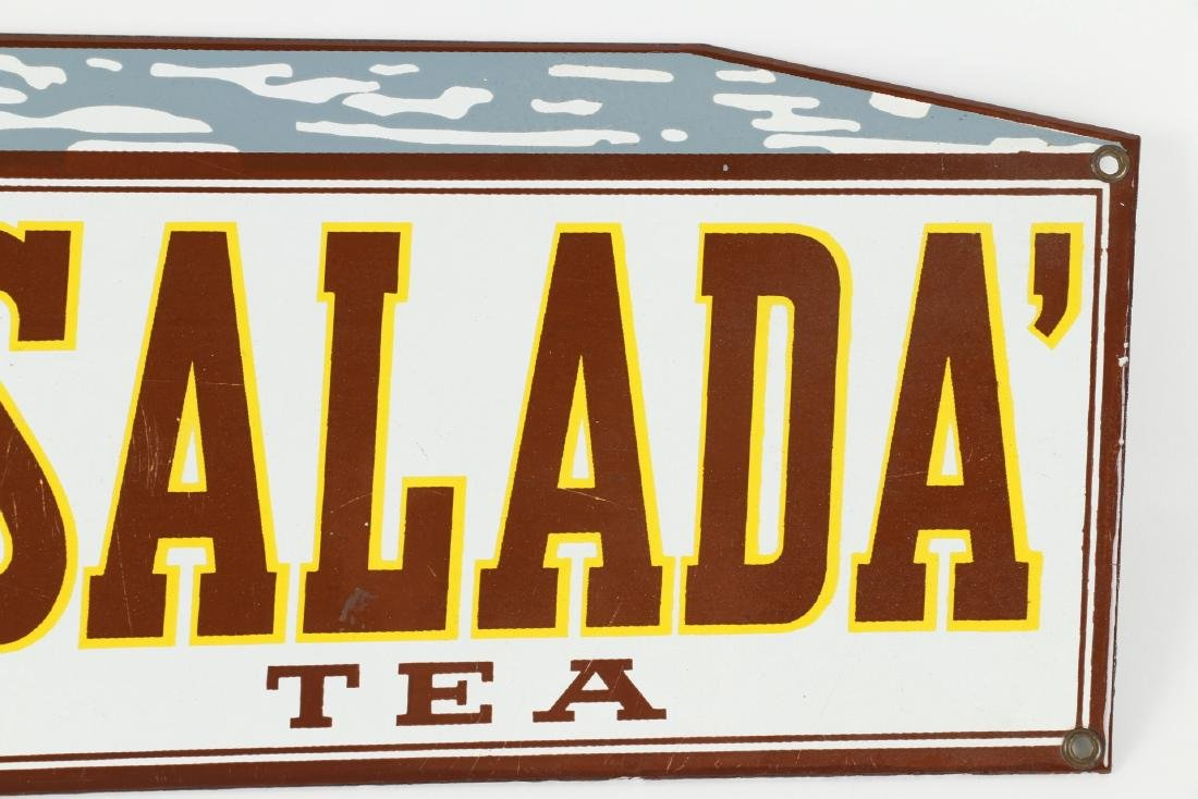 "Porcelain Salada Tea ""Box"" Sign - 3"