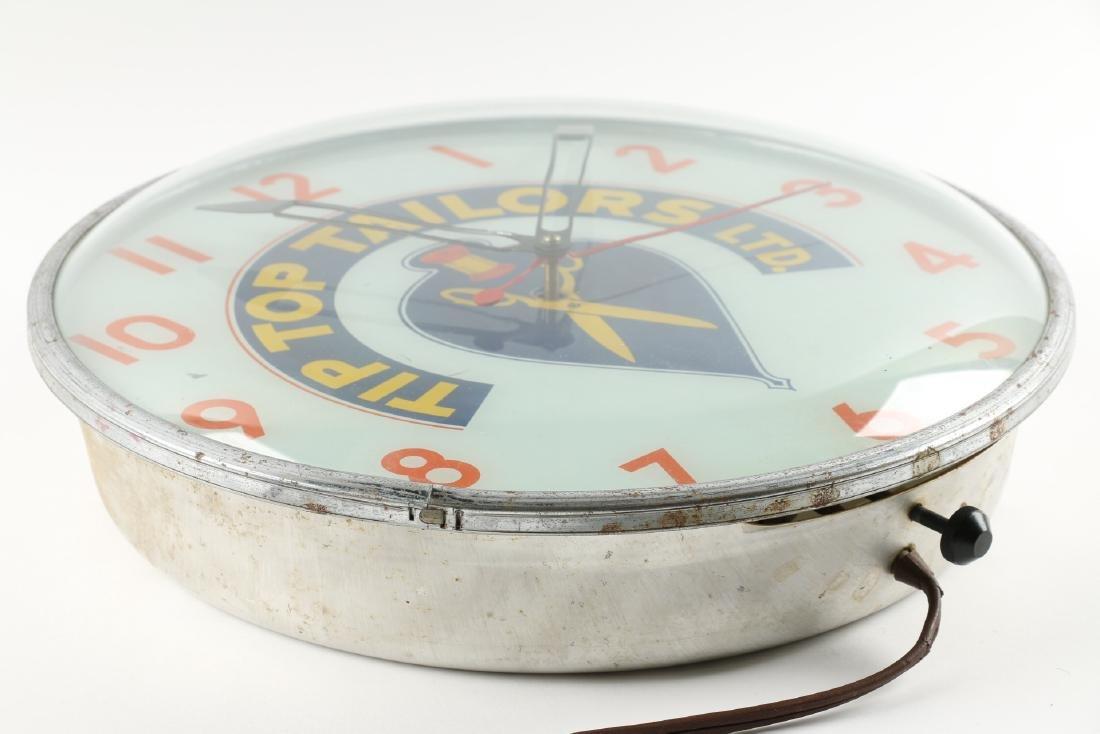 Tip Top Tailors Back-Lit Advertising Clock - 3
