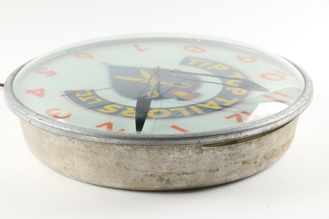 Tip Top Tailors Back-Lit Advertising Clock - 4