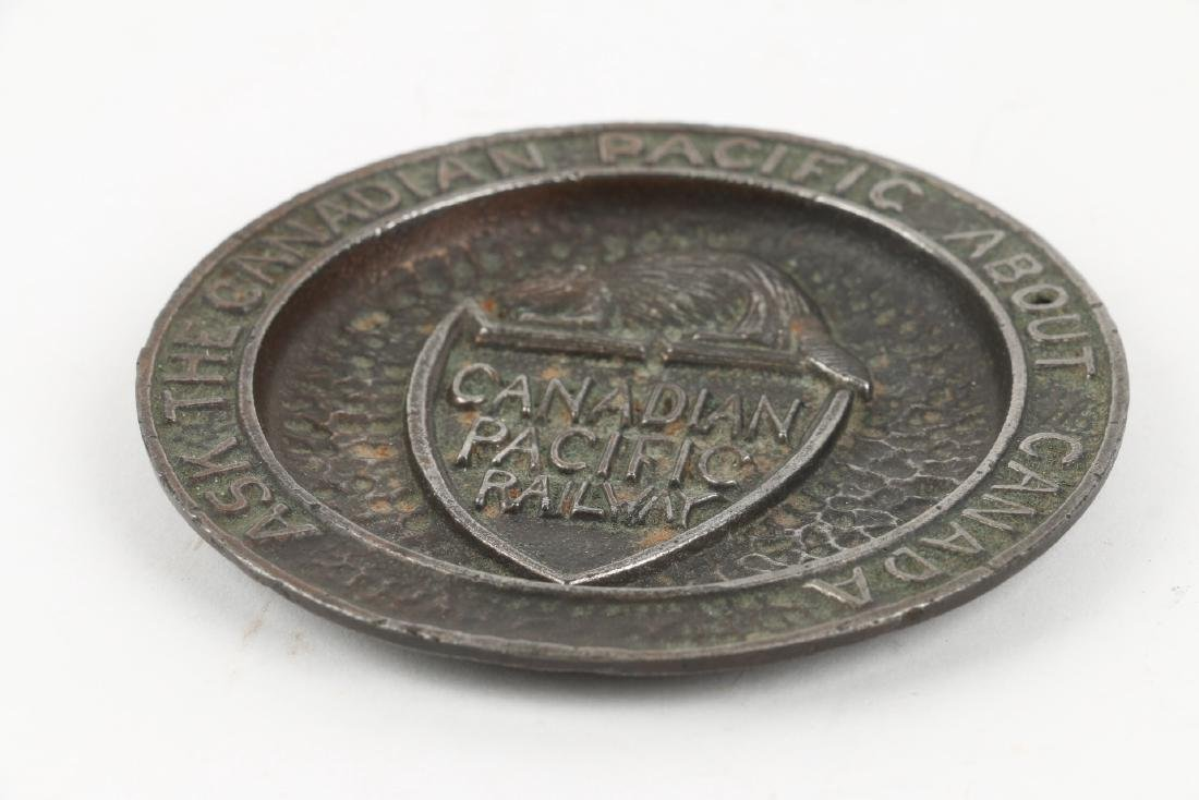 Canadian Pacific Railway Cast Ashtray - 2