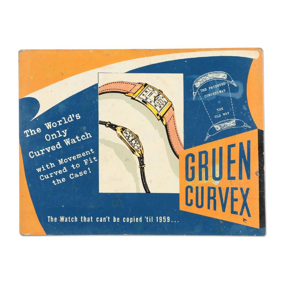 Gruen Curvex Wristwatch Sign
