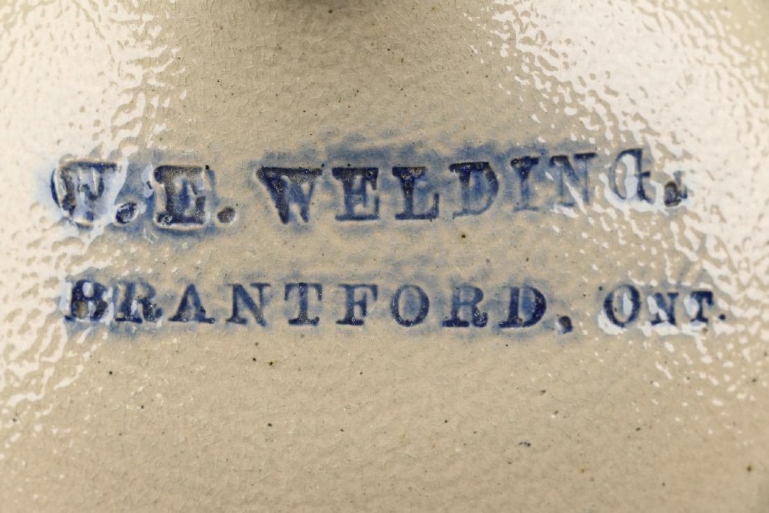 Brantford Ontario Flowered Stoneware Jug - 2