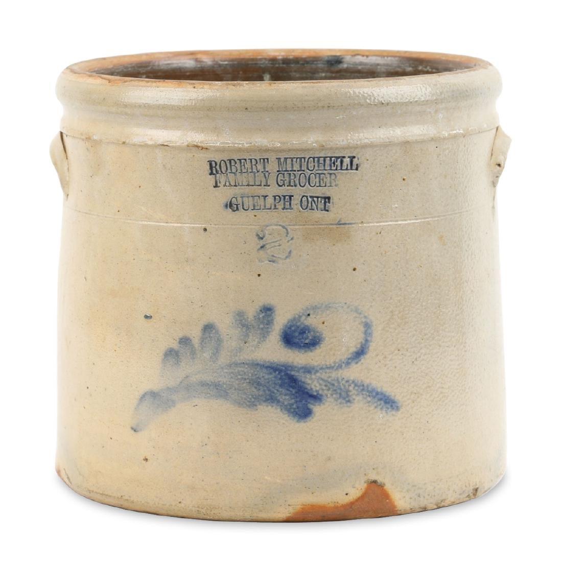 Guelph Ontario Stoneware Merchant Crock