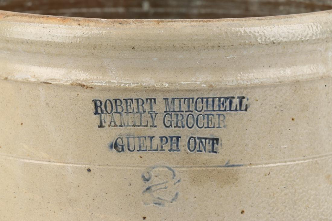 Guelph Ontario Stoneware Merchant Crock - 2