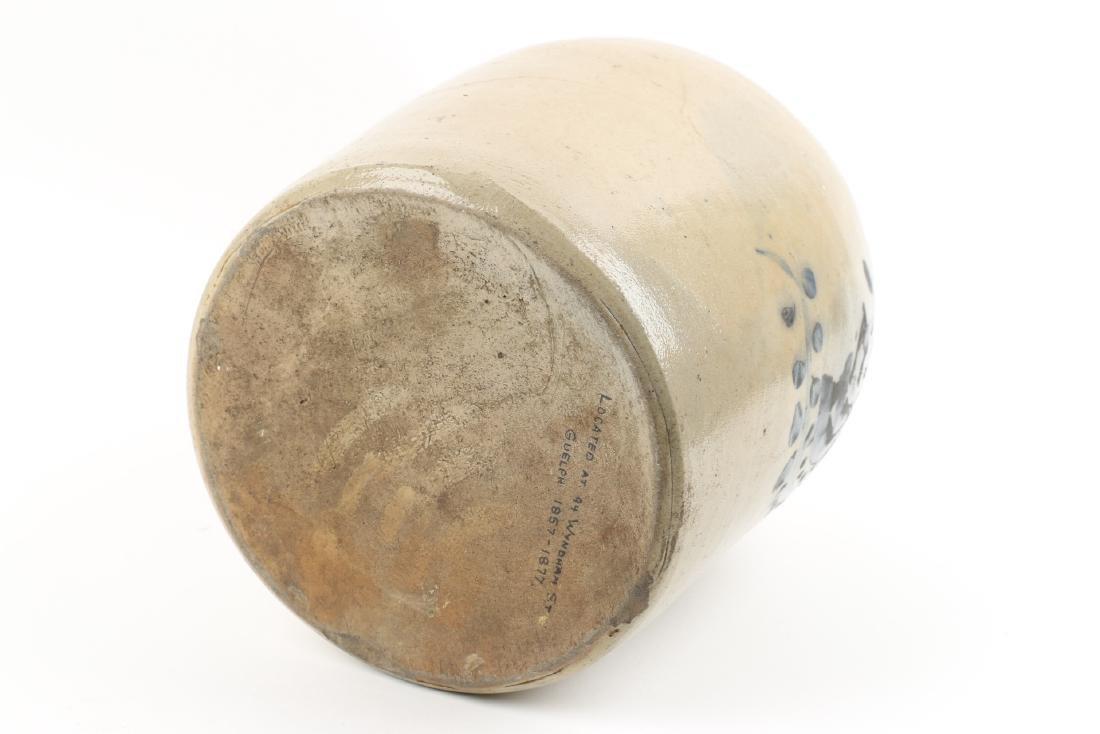 Guelph Ontario Stoneware Merchant Jug - 8